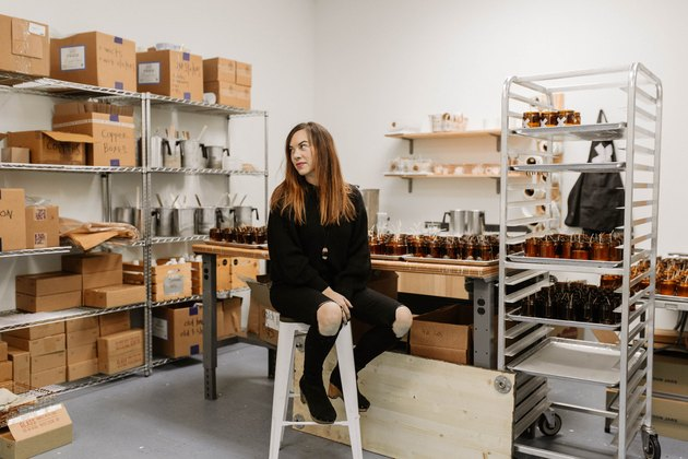 Alicia Reisinger in her studio