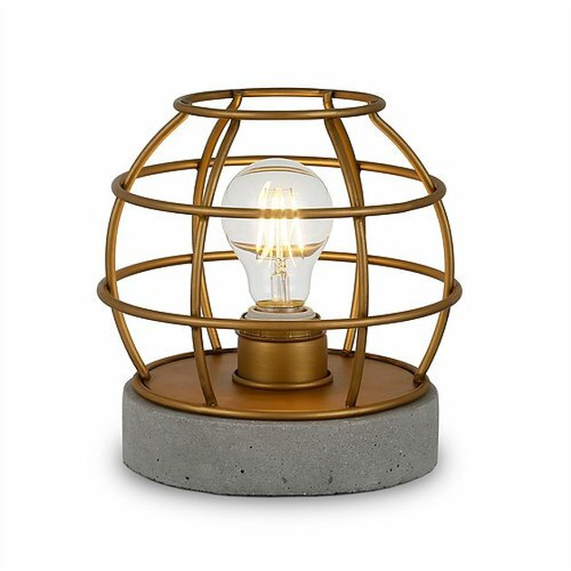 gold cage desk lamp