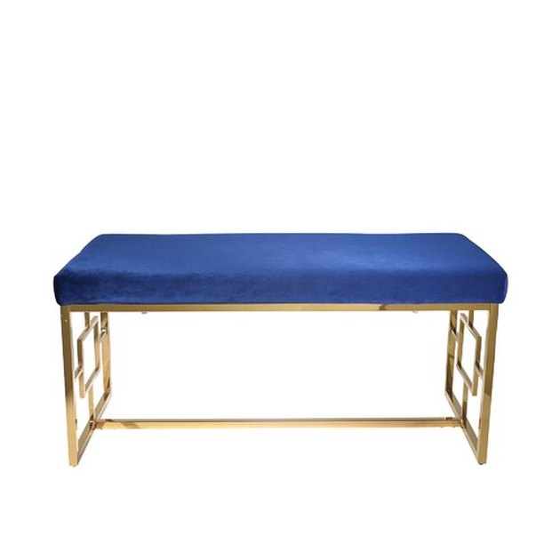 blue and gold bench