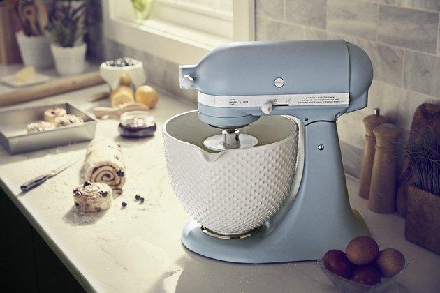 misty blue kitchenaid stand mixer