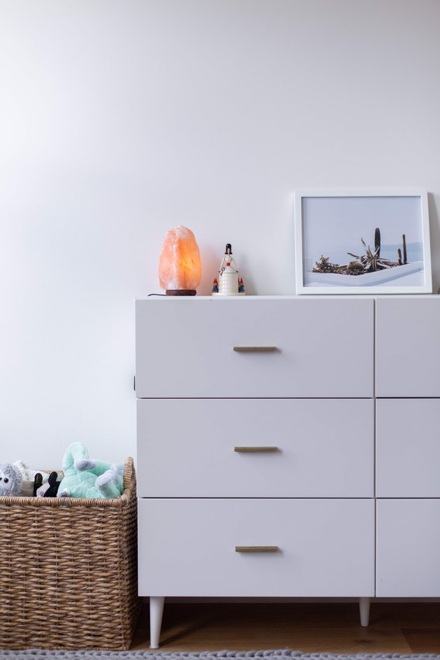 Dresser and modern decor in Meakins home