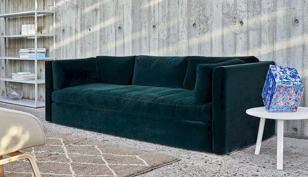 hay green velvet couch