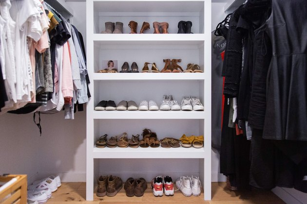 Organized shoes in Meakins home