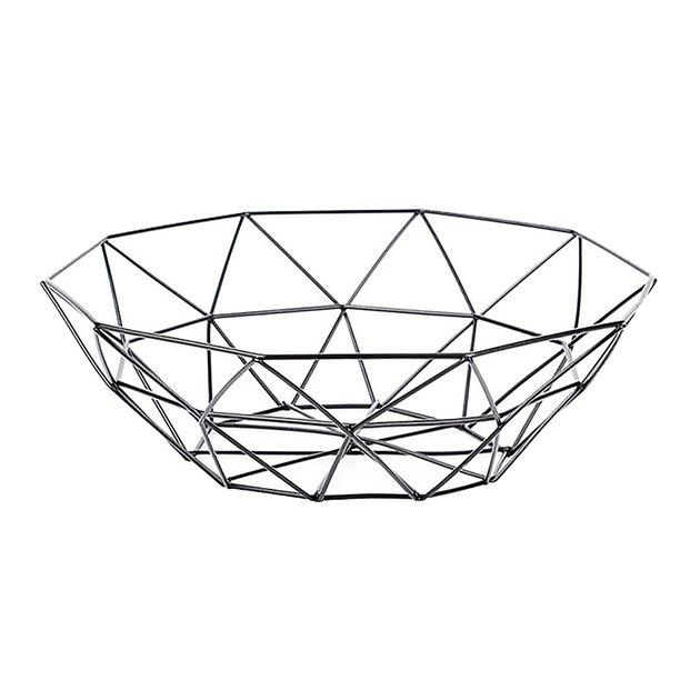 Unbrand Geometric Fruit/Vegetable Wire Basket, $13.99