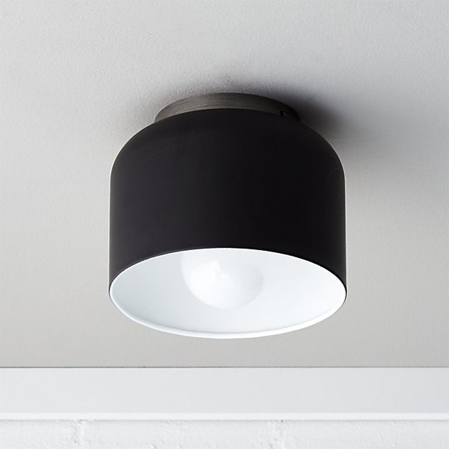 Flush mount matte black bell ceiling light