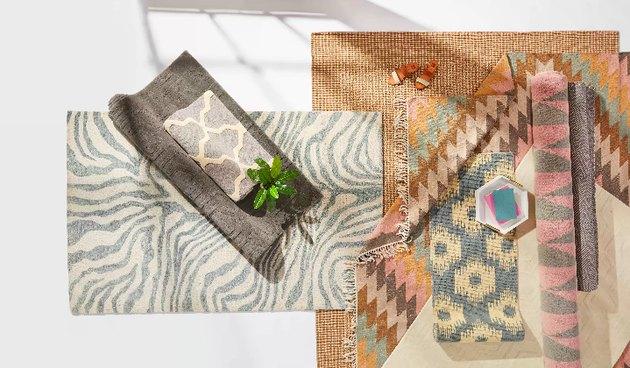 Overstock layered rugs