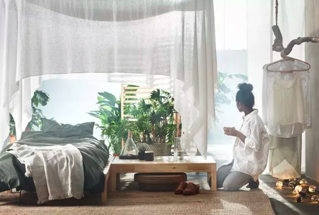 """An image from a campaign promoting IKEA's 2018 """"wellness"""" collection."""
