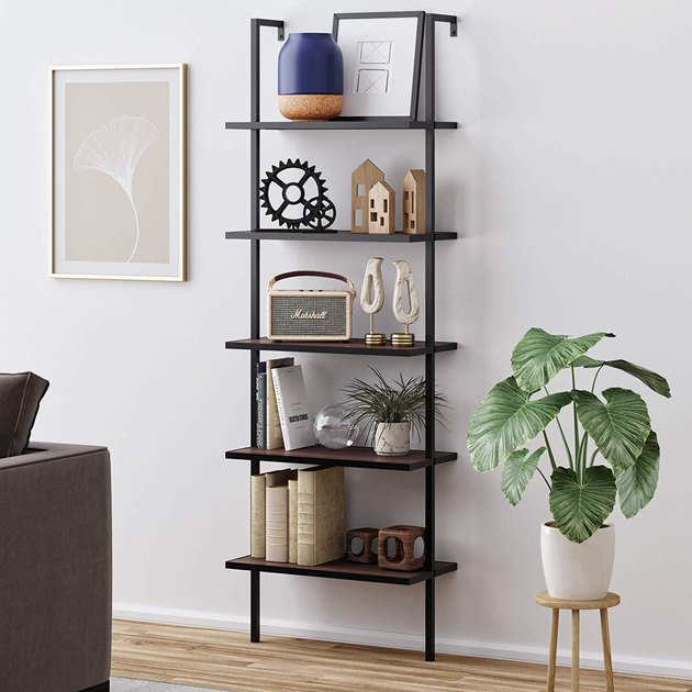 wood ladder bookcase