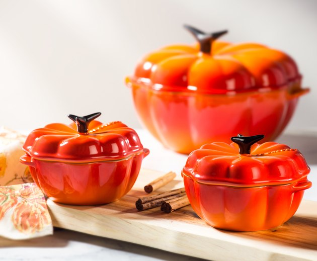 orange pumpkin cookware