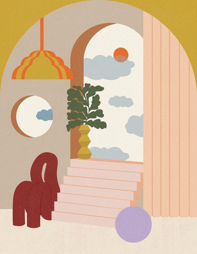 living room illustration