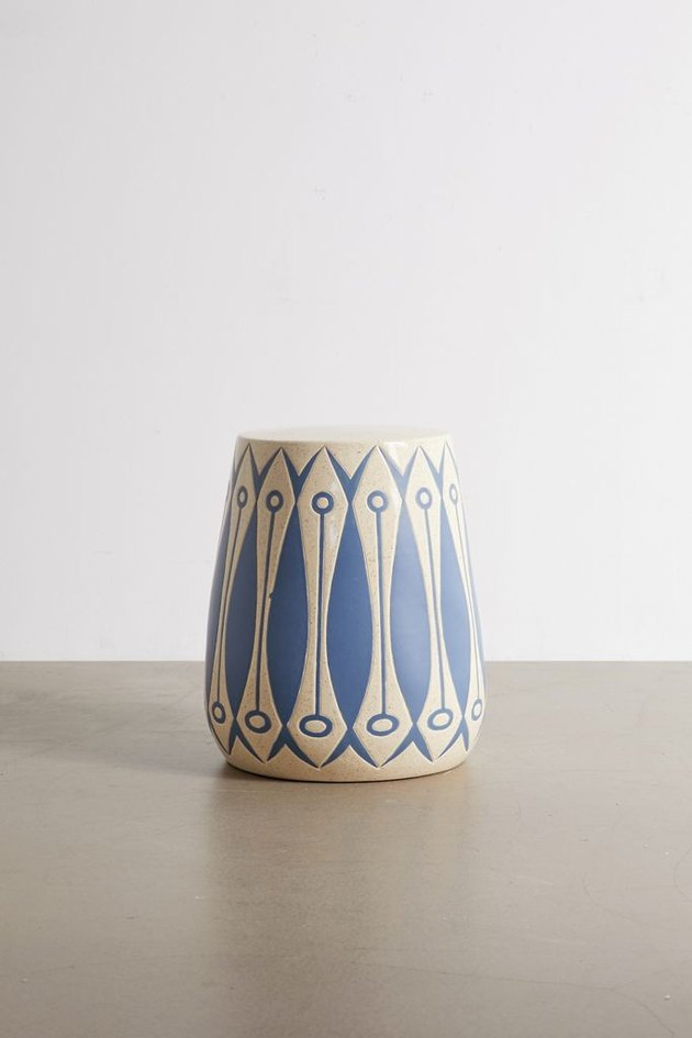painted ceramic side table