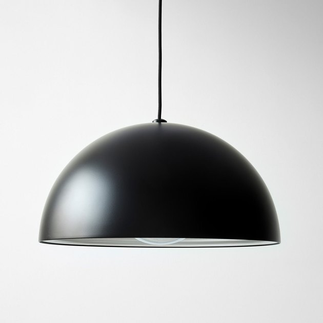 contemporary dining room lighting with dome shaped pendant
