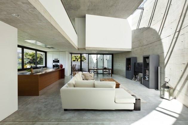 Modern interior of a living room in a house