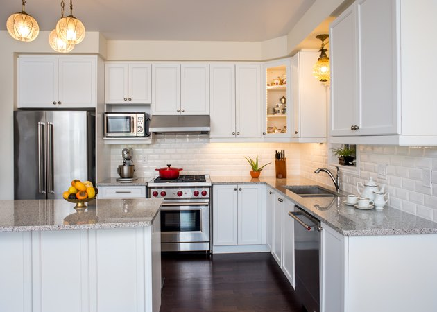 Professionally designed new kitchen with touch of retro style
