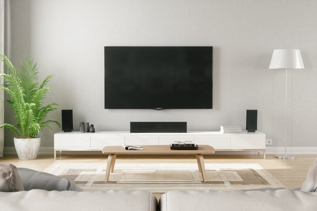 Scandinavian Style Modern Living Room With Entertainment Center