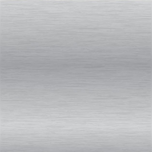 Brushed chrome surface.