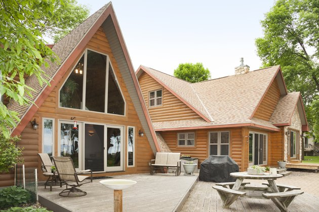 Amazing Log Cabin Home With A-Frame