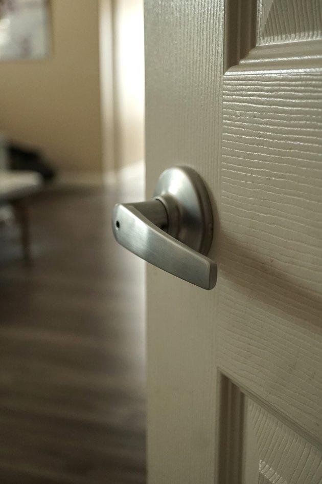 Room door handle.