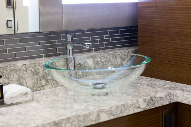 glass vessel sink