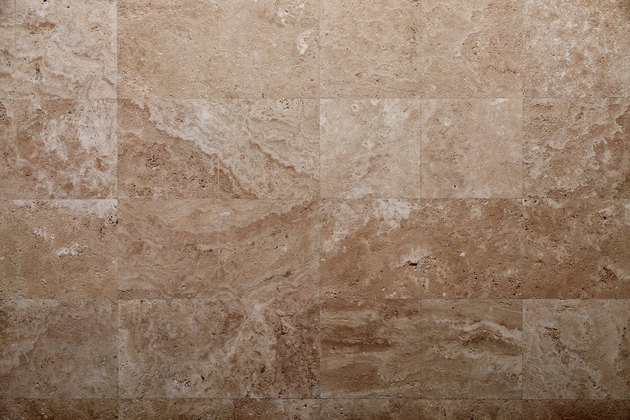 Travertine tile, natural stone texture