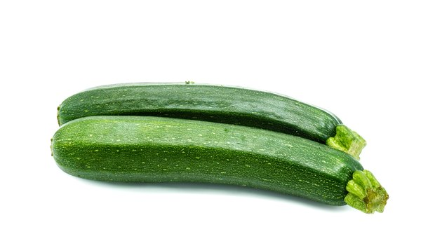 Zucchinis isolated on white.