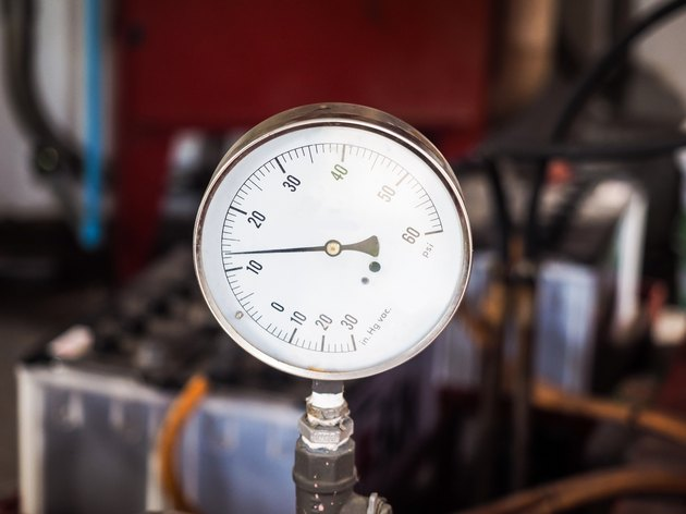 Water pressure meter.