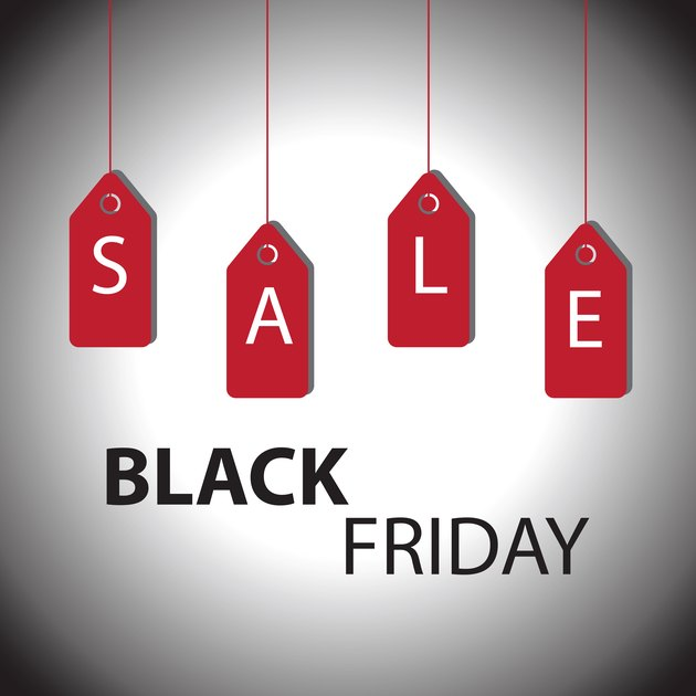 Black Friday sale add or flyer with percent sale - Illustration