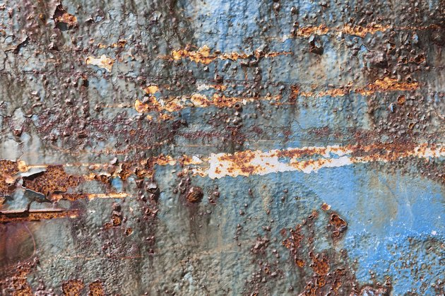 Rust-covered weathered iron steel metal background