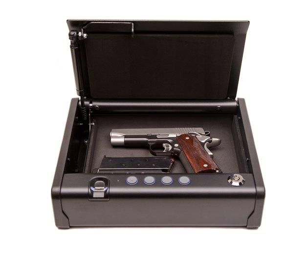 Handgun in Safe Box