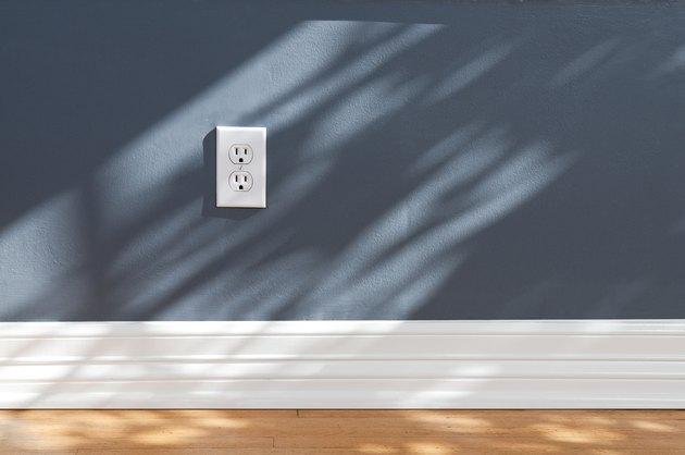 Wall Plug In Empty Room