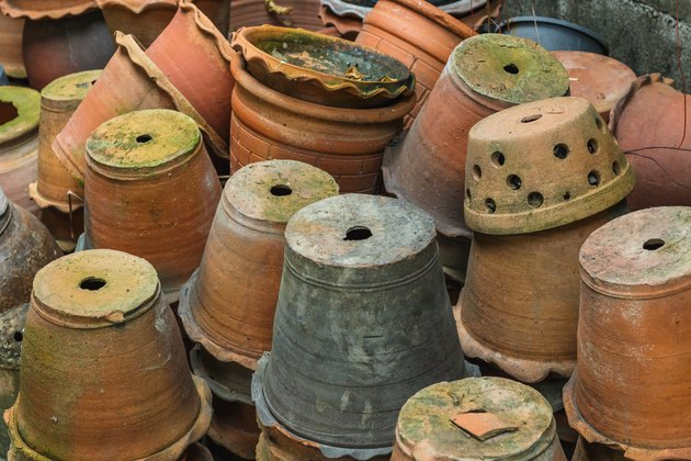 Stacks of flowerpots