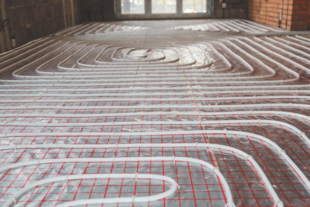 Heating posed in a under construction building