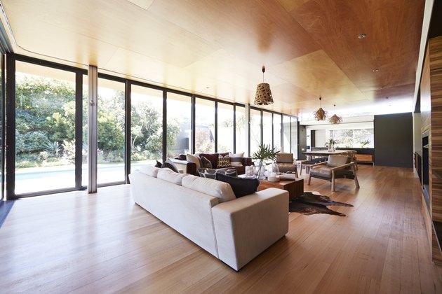 Interior still life image of living room in designed villa