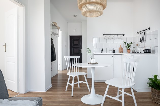 Kitchen with round table