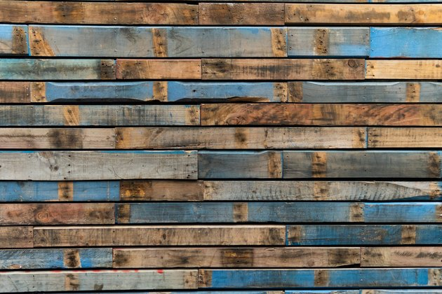 Upcycled pallet wall background
