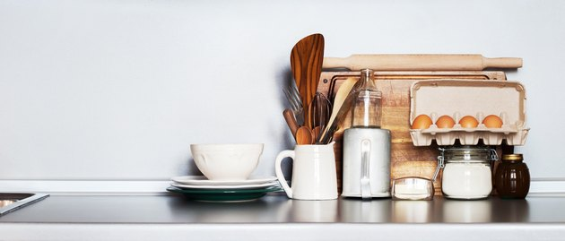 Kitchen Still life as background for Design. Rustic Dishes