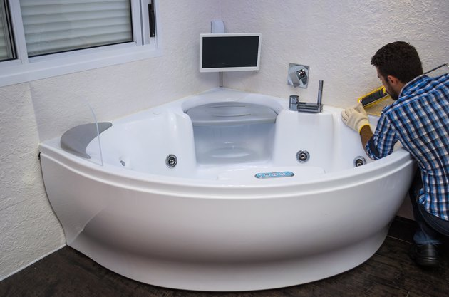 Installation of modern bath