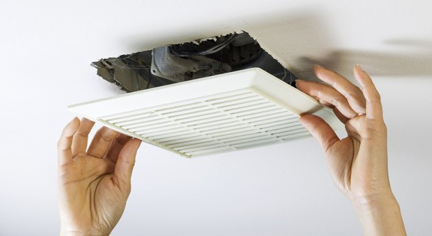 Removing Bathroom Fan Vent Cover to Clean Inside