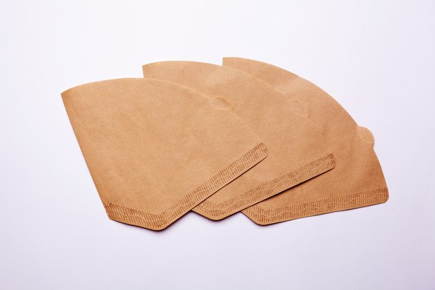 brown paper coffee filter