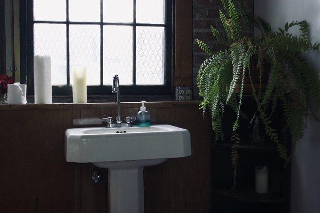 Pedestal Sink and Window