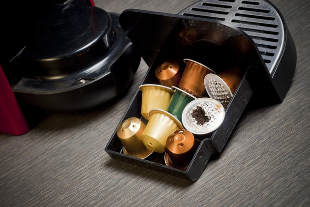 Nespresso coffee machine with capsules