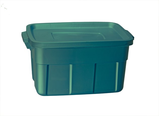 Green Plastic Tub