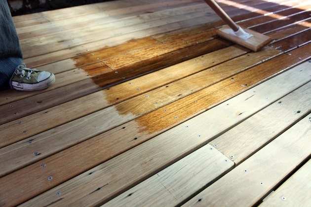 Oiling the deck