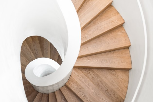 spiral staircase inside building