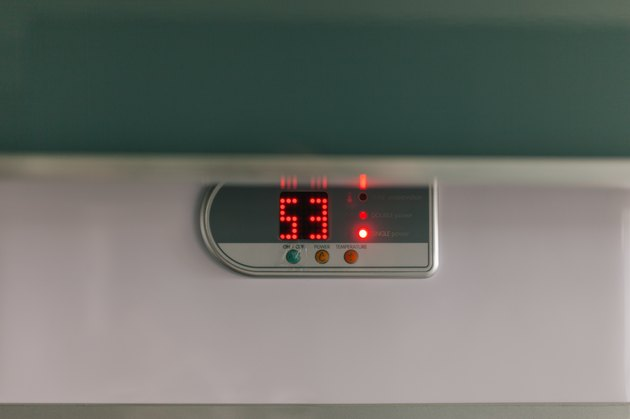 Close-Up Of Thermostat On Wall