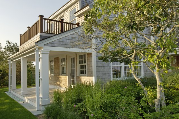 Exterior of a single family home with plants