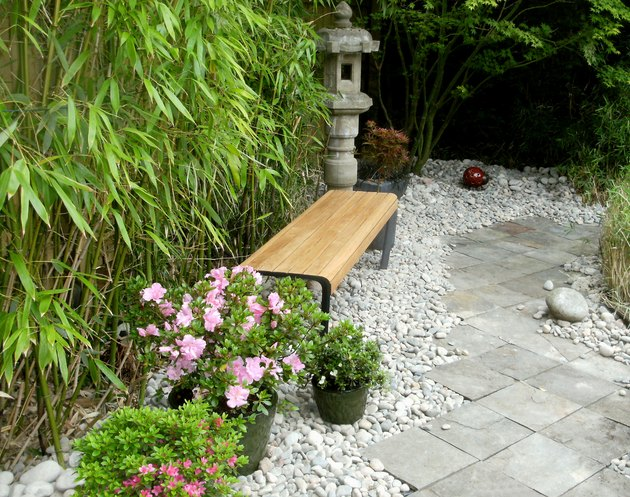 Image of a view down a garden path