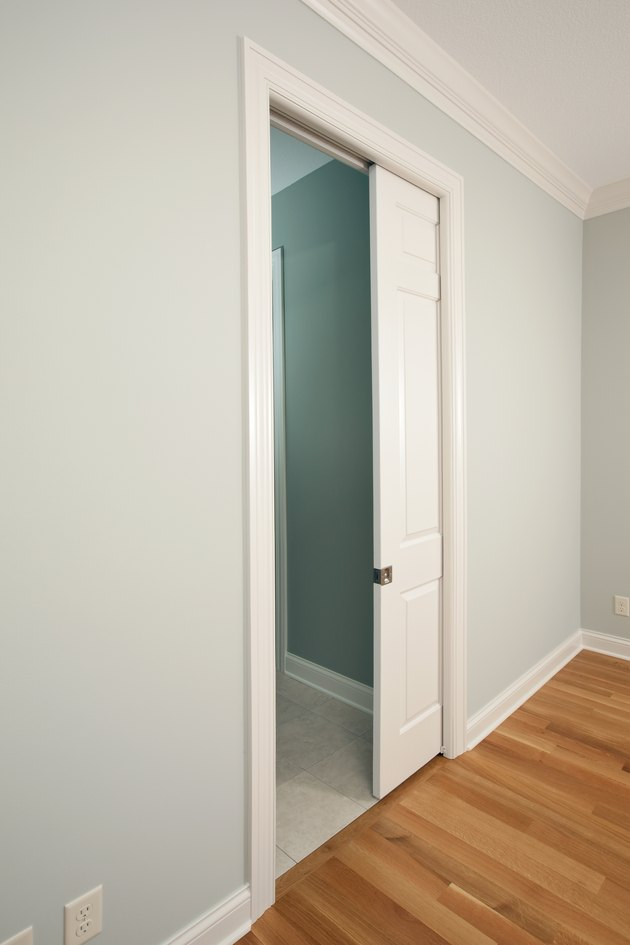 New Pocket Door in a House Bedroom