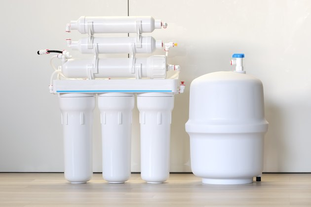 Domestic reverse osmosis filter. Water purifier