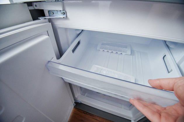 Open fridge freezer container
